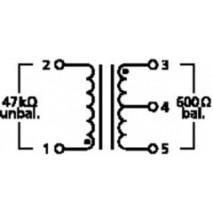 DIB-110, audió transzformátor 10:1 mikrofonhoz