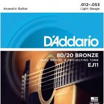 D'Addario EJ11 akusztikus gitár húr