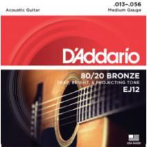 D'Addario EJ12 akusztikus gitár húr