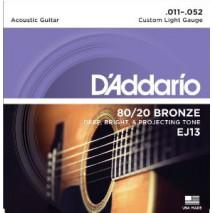 D'Addario EJ13 akusztikus gitár húr