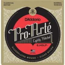 D'Addario Pro-Arte Klasszikus gitár húrok - Lightly Polished Silver/Clear/Normal EJ45LP