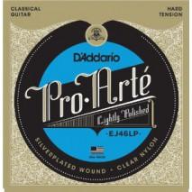 D'Addario Pro-Arte Klasszikus gitár húrok - Lightly Polished Silver/Clear/Hard EJ46LP