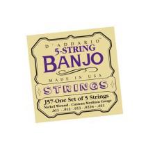 D'Addario J57 5 húros banjo húrok - nikkel, Custom Medium, 11-22 (J57)
