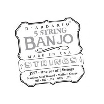 D'Addario 5-húros tenor banjo húrok - 5-String/Medium/Stainless Steel (JS57)