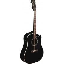 Sigma SI-DMC-1STE-BK akusztikus gitár elektronikával, fekete