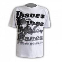 Fehér Ibanez póló nyomott mintáva l IT10GHET