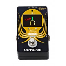 Ortega OCTOPUS – hangoló pedál és tápegység