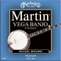 Martin M-V730 banjo húr, 5 húros, vega medium, .010-.023