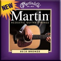 Martin M-175 Akusztikus gitárhúr, bronz, 11-52