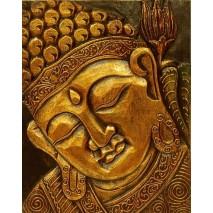 Buddha falikép arrany 38* 29 cm
