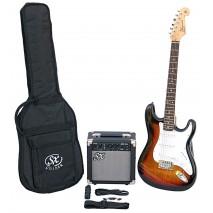 SX SE1 Electric Guitar Kit 3-Tone Sunburst Elektromos gitár szett