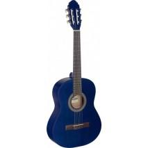 STAGG C430 M kék 3/4 es klasszikus gitár