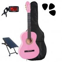 Pink klasszikus gitár szett 4/4 es méret
