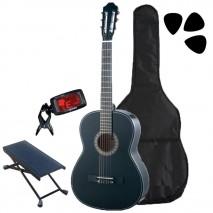 Fekete klasszikus gitár kezdő szett 3/4 es méret