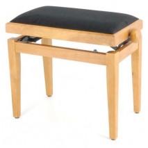 Mónika zongorapad matt fa szín fekete ülés