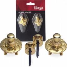 Stagg SSL1 GD Strap Locks