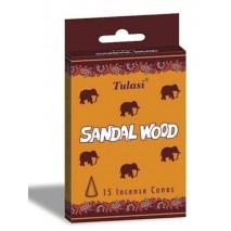 Szantálfa Illatú Kúpfüstölő / Elefántos Szantál