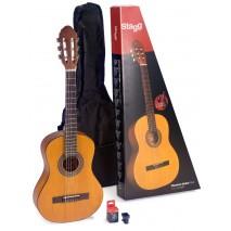 Stagg C430 M NAT Pack klasszikus gitár szett