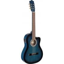 Stagg C546TCE-BLS elektro-klasszikus gitár