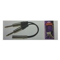 Stagg YC-0,5/1PF2P átalakító y kábel