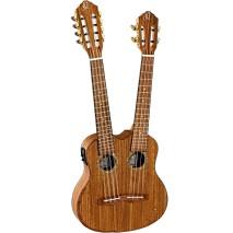 Ortega Hydra duplanyakú, elektroakusztikus ukulele