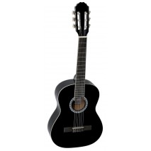 PURE GEWA 1/2 es fekete klasszikus gitár Basic