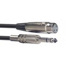 Stagg SAC3PSXF DL nagy jack-XLR papa kábel