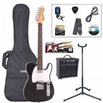 Encore EBP-E2BLK  Outfit Gloss Black elektromos gitár szett