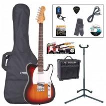 Encore EBP-E2SB Outfit Sunburst elektromos gitár szett