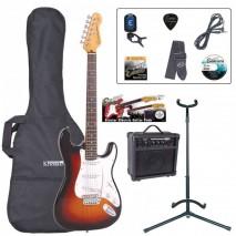 Encore EBP-E6SB Outfit Sunburst elektromos gitár szett