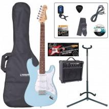 Encore EBP-E6LB Outfit Laguna Blue elektromos gitár szett