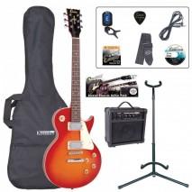 Encore EBP-E99CSB Outfit Cherry Sunburst elektromos gitár szett