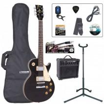 Encore EBP-E99BLK Outfit Gloss Black elektromos gitár szett