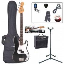 Encore EBP-E20BK 7/8 Outfit Gloss Black basszusgitár szett