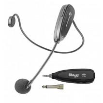 Stagg SUW 12H-BK vezetéknélküli fejmikrofon