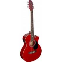 Stagg SA20ACE RED elektro- akusztikus gitár