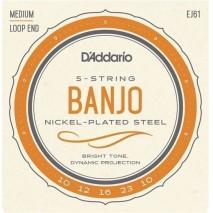 D'Addario EJ61 Banjo húr