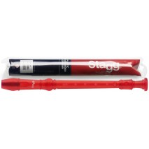 Stagg REC-GER/TRD piros furulya