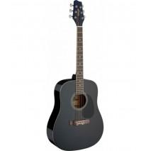 Stagg SA20D 1/2 BK akusztikus gitár