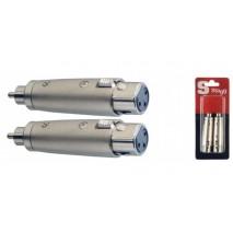 Stagg AC-XFMH 2 XLR /MALE RCA átalakító