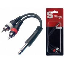 Stagg YC-0,1/1P2CH átalakító adapter kábel