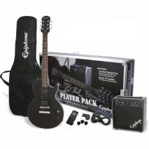 Epiphone Les Paul Player Pack Ebony elektromos gitár szett