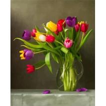 Tulipán számfestő készlet , festés számok szerints