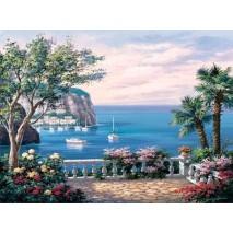 Terasz a kikötő felett Festés számok szerint 40 x 50 cm