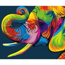 Festés számok szerint 40x50 cm elefánt