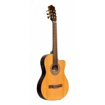 Stagg SCL60 TCE−NAT elektro- klasszikus gitár