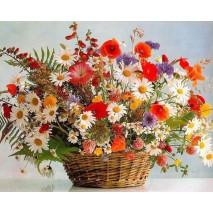 Festés számok szerint Virágkosár