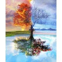 Az évszakok fája számfestő készlet , festés számok szerint