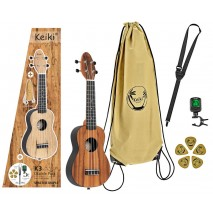 Ortega Keiki K3-ACA szoprán ukulele szett