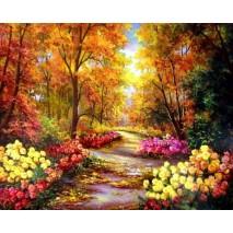 Festés számok szerint őszi táj